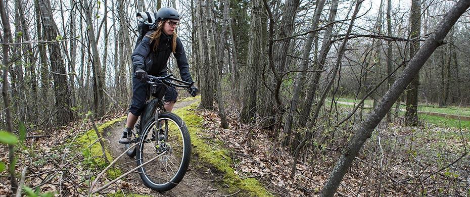 Ogre singletrack riding