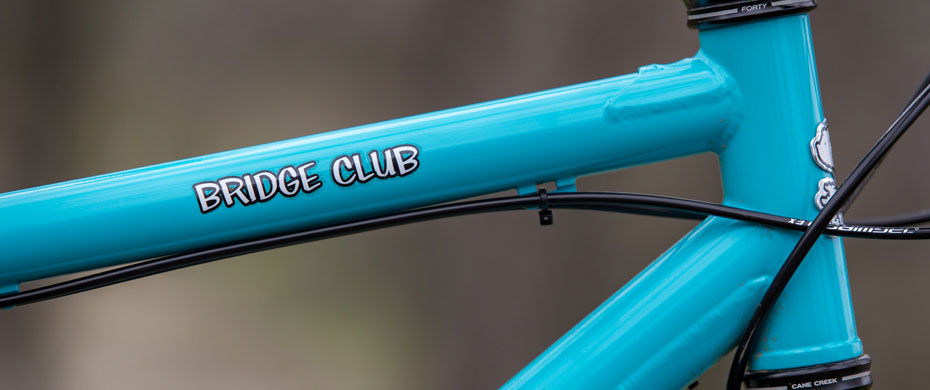 Bridge Club top tube detail