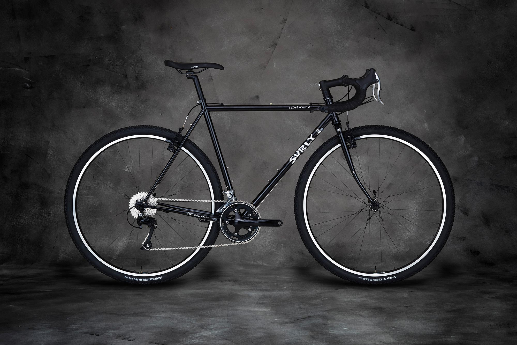 Surly Cross Check Bike - Black - right side view