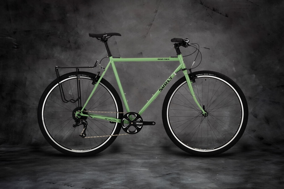 Surly Cross Check Bike - Sage Green - right side view