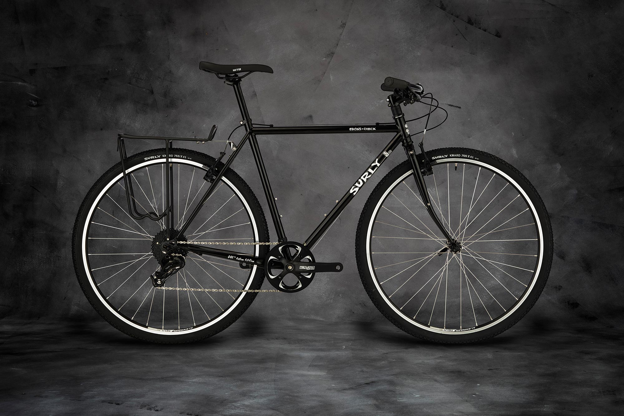 Surly Cross Check Bike - Gloss Black - right side view