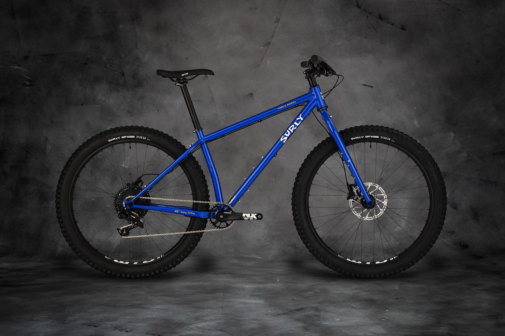 Surly Karate Monkey Bike - Blue Porta Potty - right side view