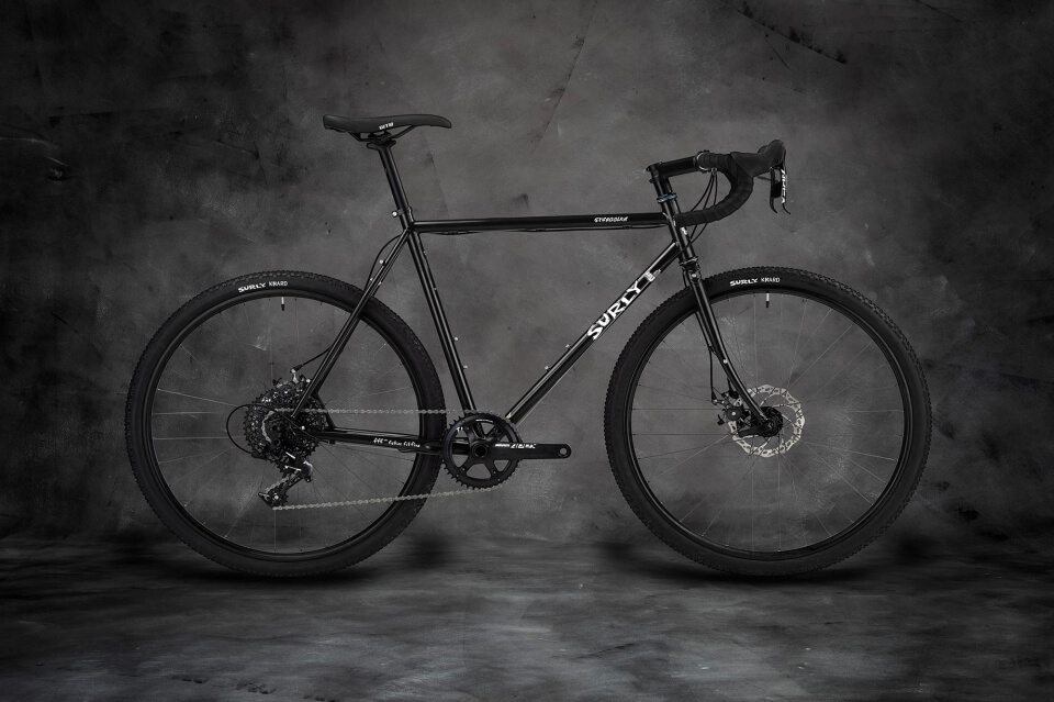 Surly Straggler Bike - Gloss Black - right side view