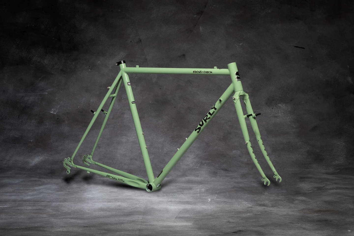 Surly Flat Bar Cross-Check Frameset, Sage Green