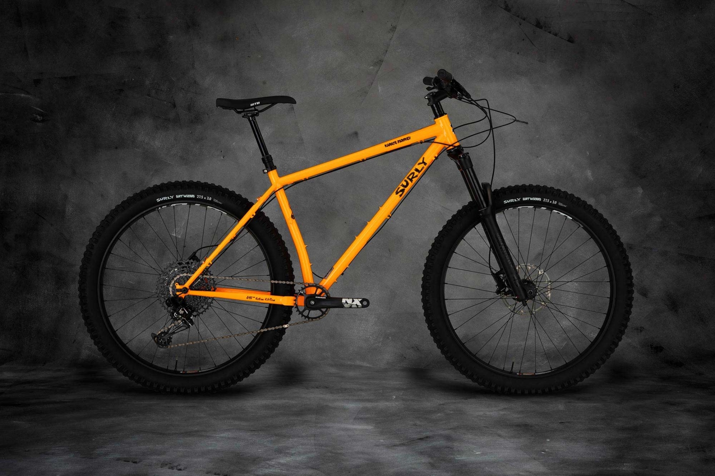Karate Monkey front suspension bike, Toxic Tangerine