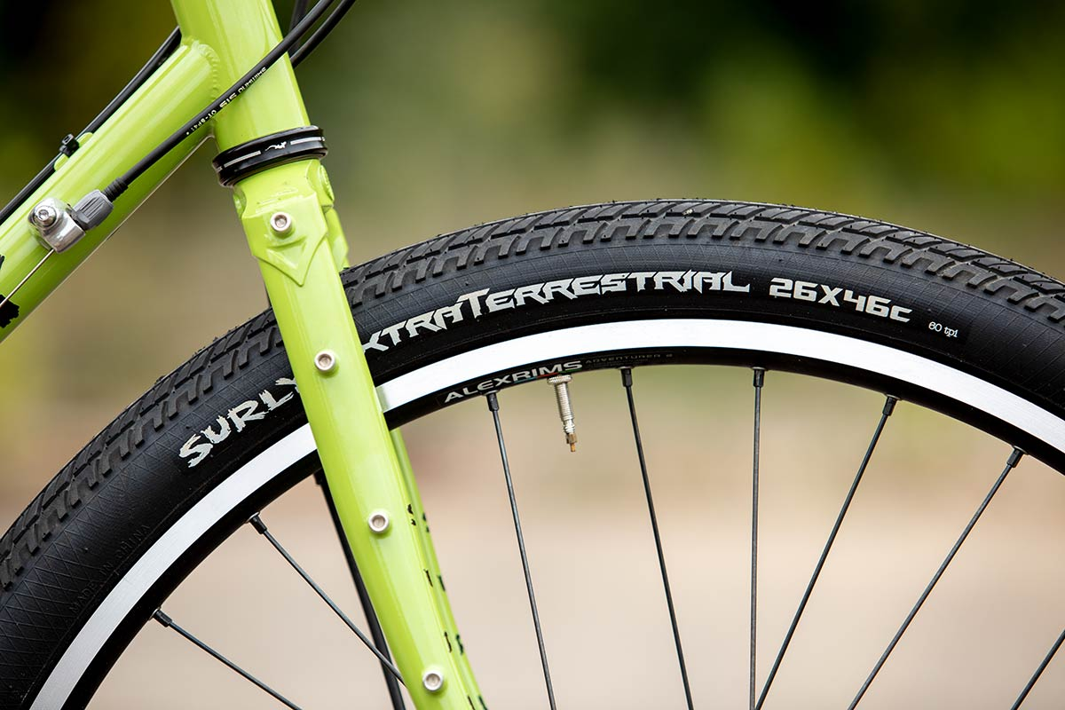 Surly Disc Trucker wheels and tires