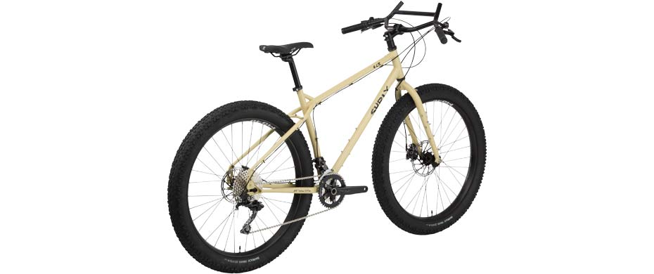 ECR 27+ beige complete bike 3/4 rear view