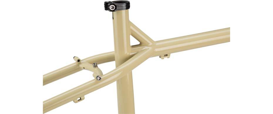 ECR 27+ beige frameset detail seattube view