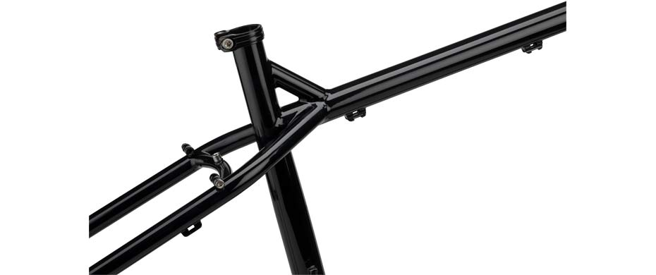 ECR 27+ black frameset seattube detail view
