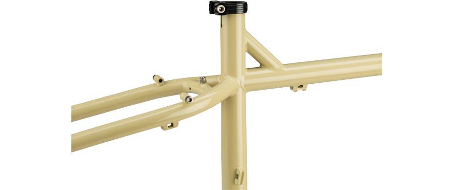 ECR beige frameset seattube detail view