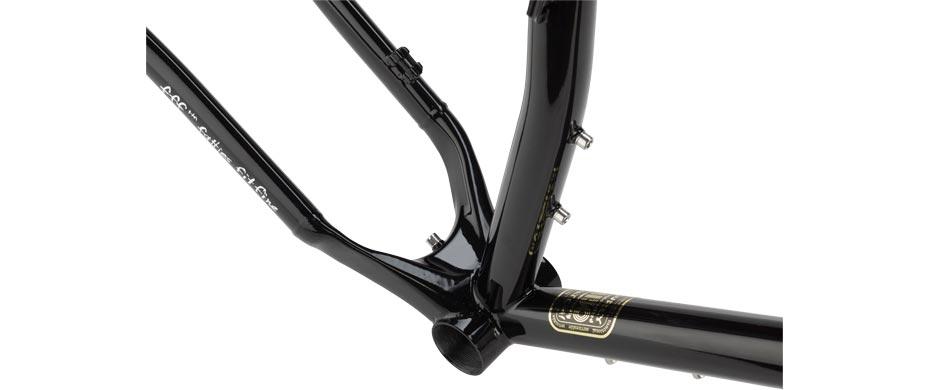 ECR black frameset bottom bracket detail view