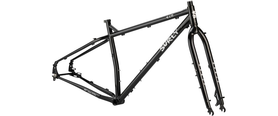 ECR black frameset side view