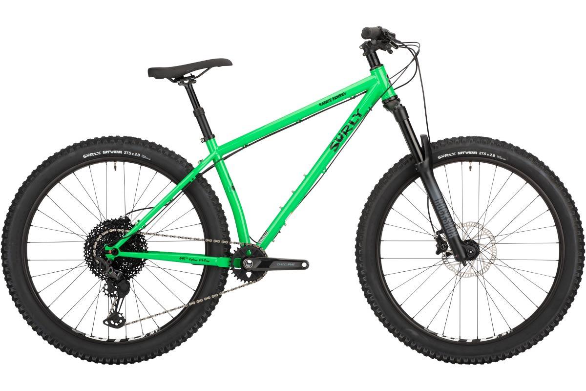 Karate Monkey front suspension bike, High Fiber Green