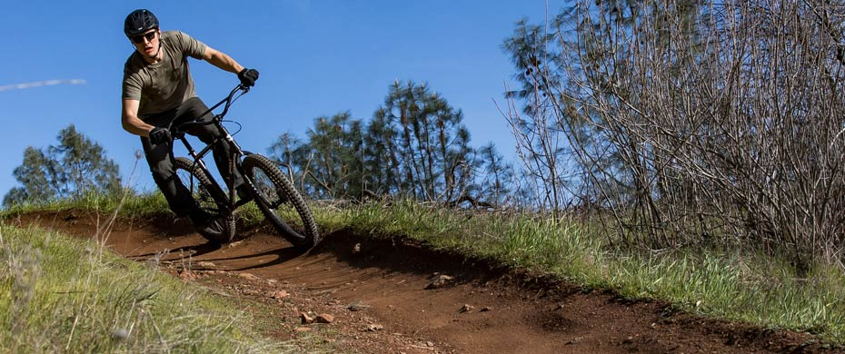 Lowside riding a berm
