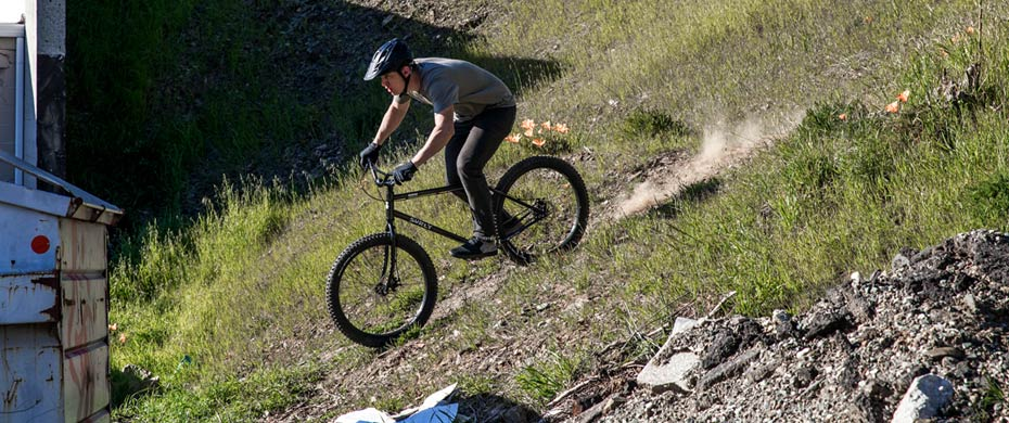 Lowside riding downhill