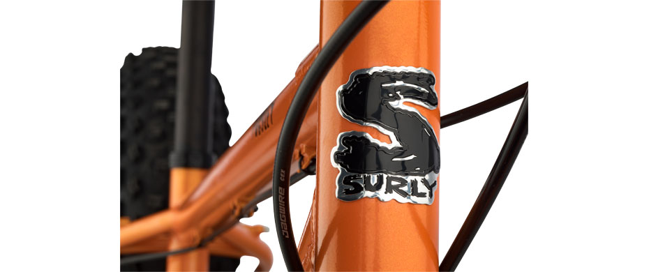 Surly Pugsley, detail front view