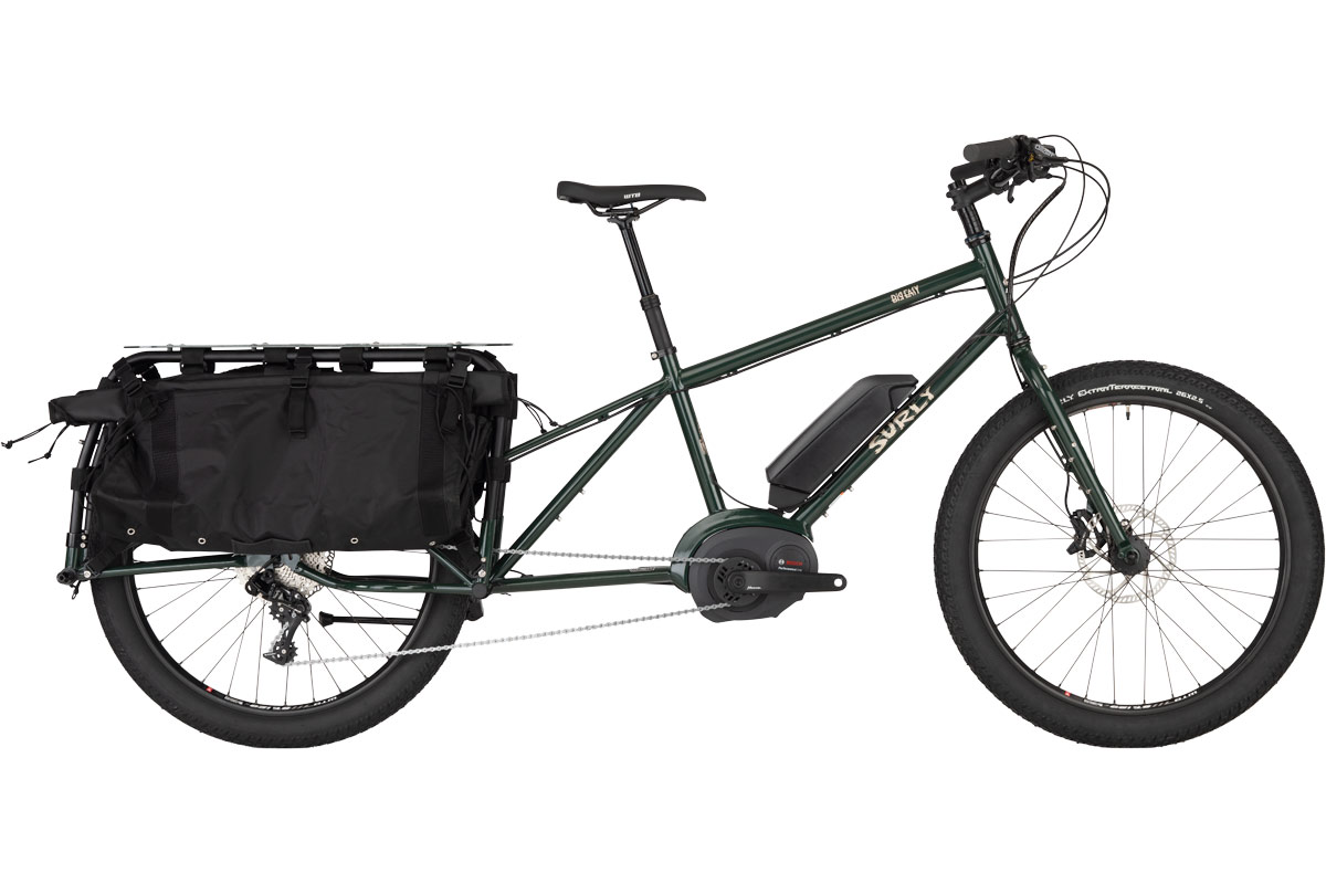 Surly Big Easy Cargo eBike in forest green