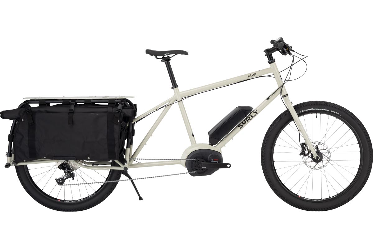 Surly Big Easy Cargo eBike - Tan Cargo Shorts