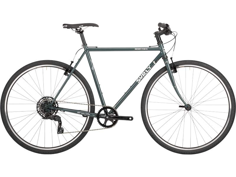 Cross Check complete bike side-view, BlueGreenGray