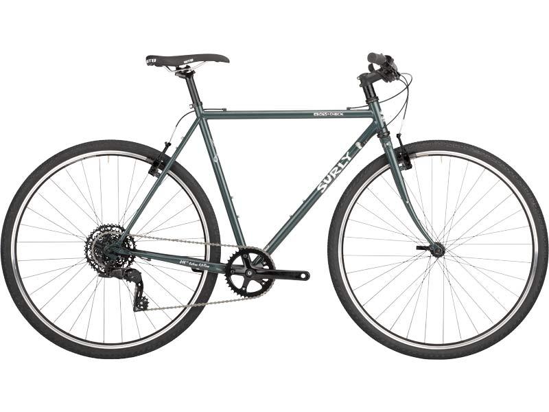 Cross Check complete bike side-view, BlueGreenGray