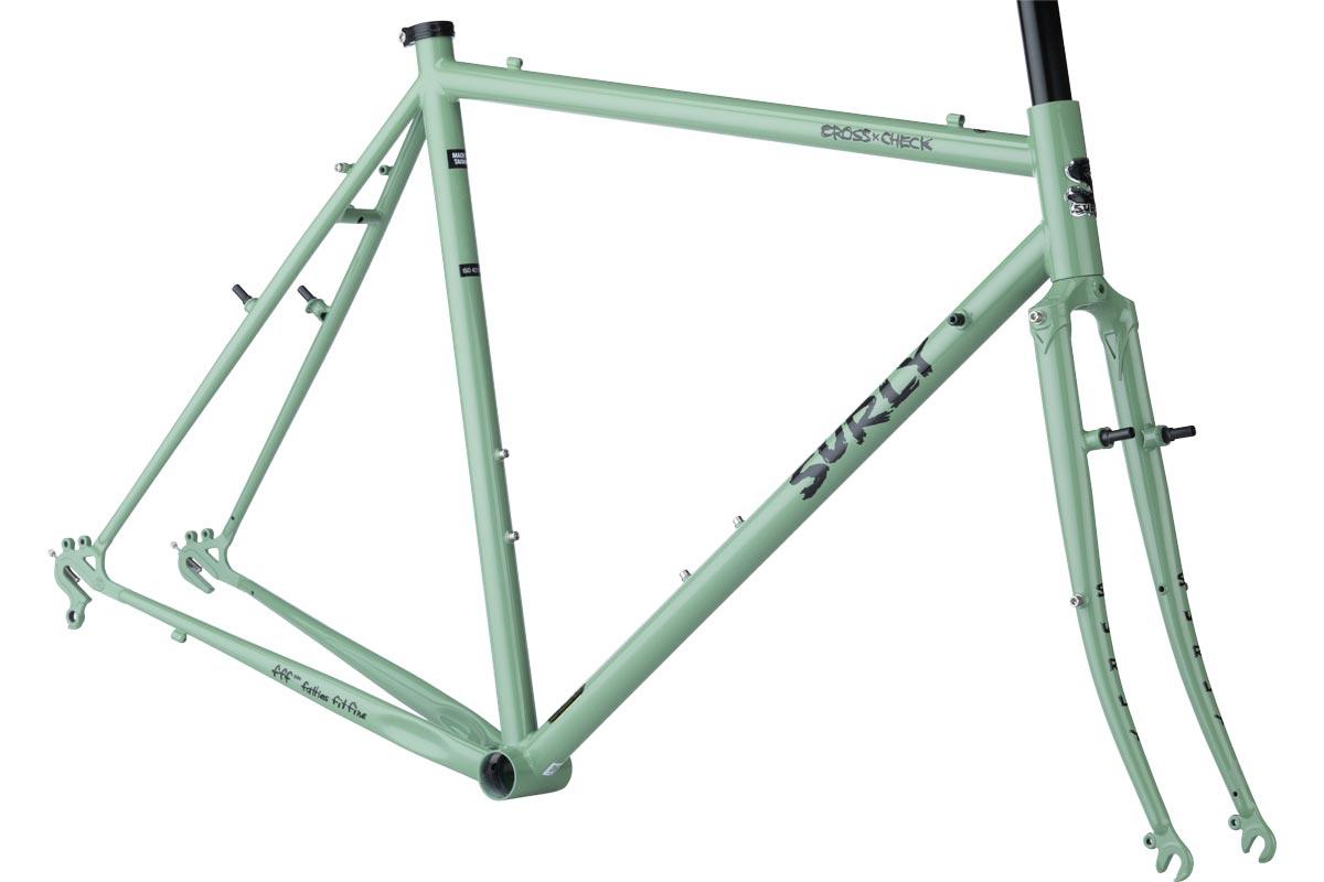 Surly Flat Bar Cross-Check Frameset, Sage Green