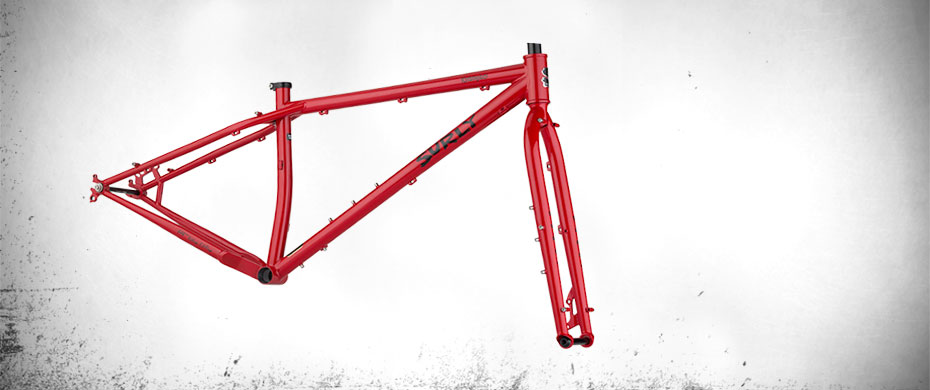 Krampus frameset side view - Andy's Apple Red
