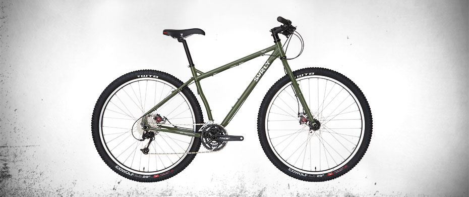 Surly Ogre Bike - Army Green - right side view