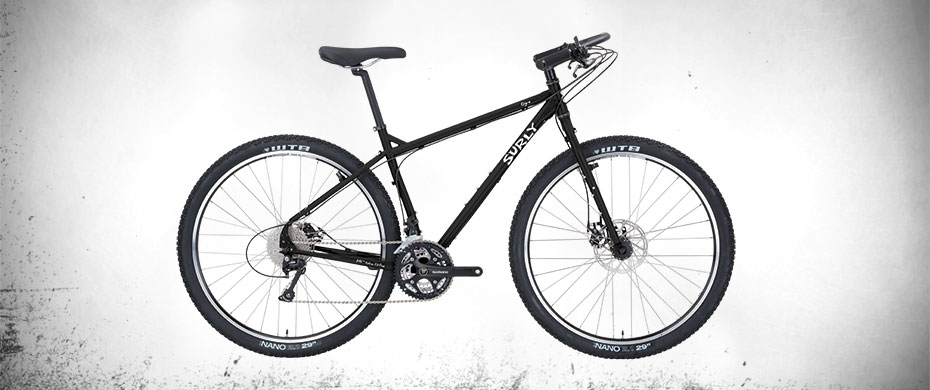 Surly Ogre Bike - Black - right side view
