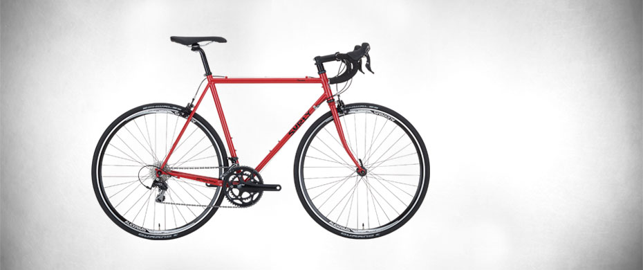 Surly Pacer Bike - Red Flake - right side view