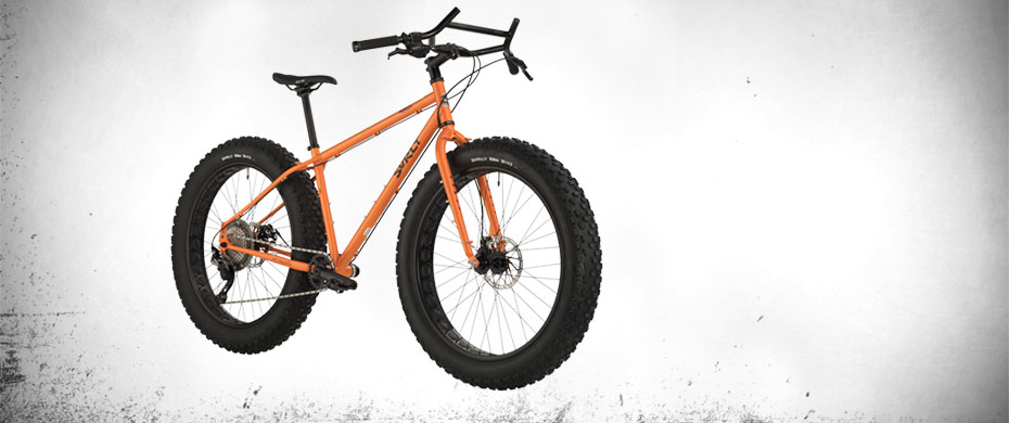 Surly Pugsley, 3/4 front view