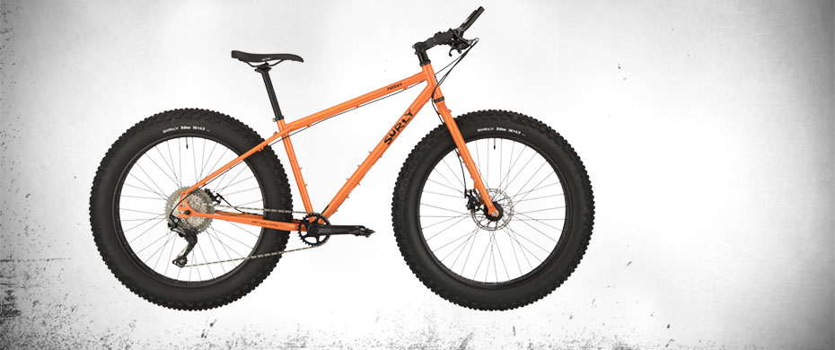 Surly Pugsley, complete bike side view