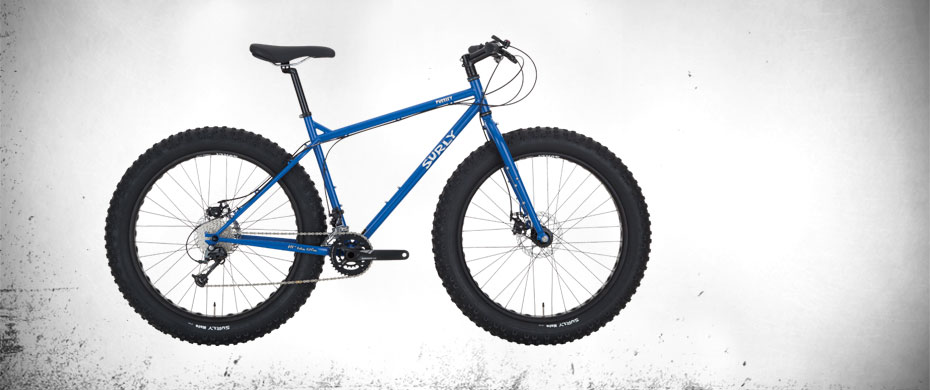 Surly Pugsley Fat Bike - Blue - right side view
