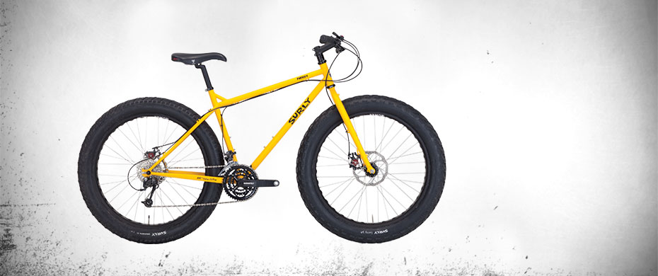 Surly Pugsley Fat Bike - Yellow - right side view