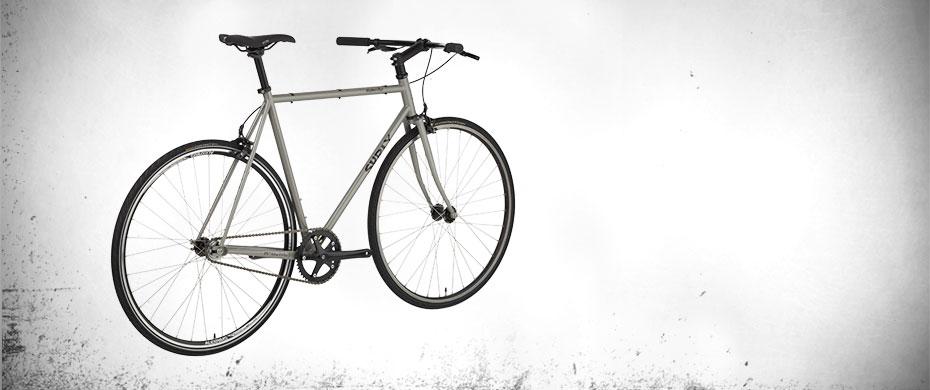 Steamroller complete bike - 3/4 rear view