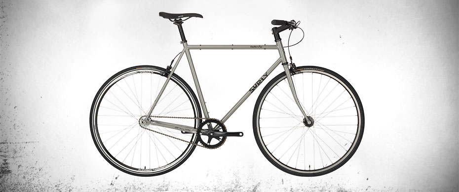 Surly Steamroller Bike - Ministry Gray - right side view