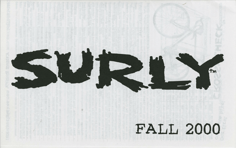 Surly Bikes 2000 catalog cover - black text with white background