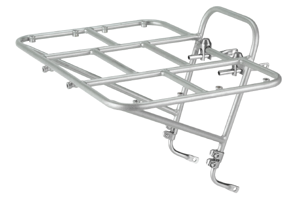 Surly 24-Pack Rack - silver - left side angled view - white background