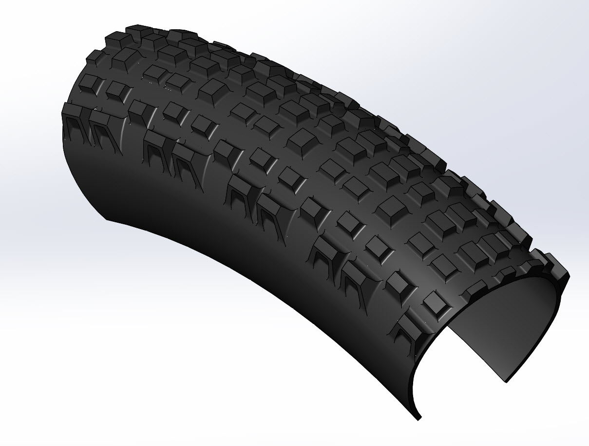 CAD illustration of a Surly Knard 27.5+ tire