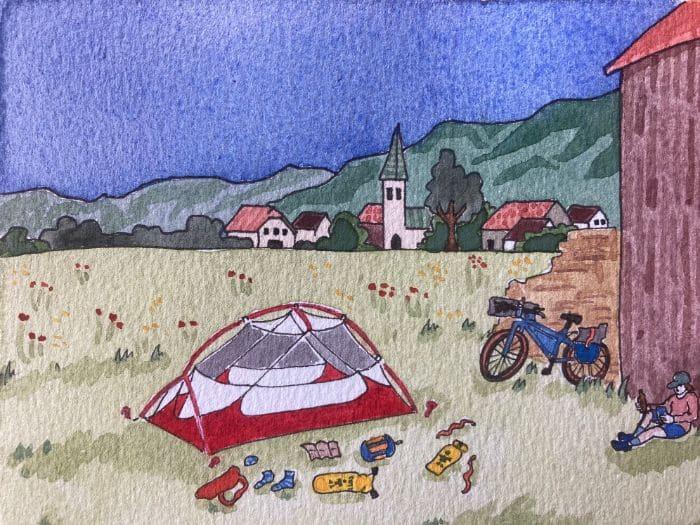 Field camping in Slovenia