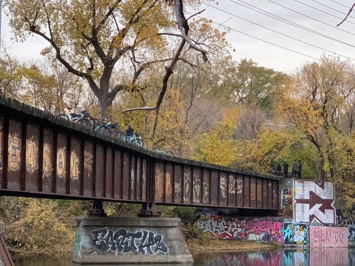 Graffiti on a railroad bridge