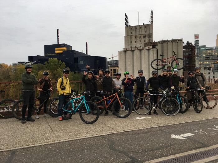 Surly Bikes on the Stone Arch Bridge