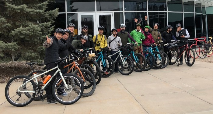 Group shot of Surly Bikes riders