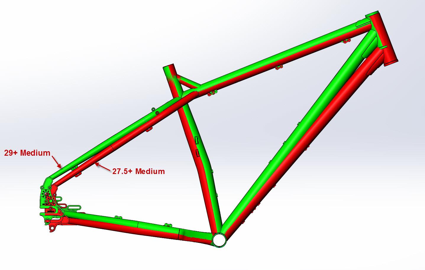 CAD Illustration of a Surly ECR bike frame