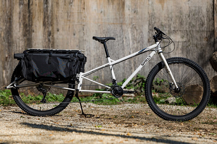 Surly Big Fat Dummy Long-tail Cargo Bike with Fat Tires