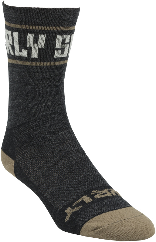 Surly Mid-High Sock - Gray, Black and Tan - Right Angled view