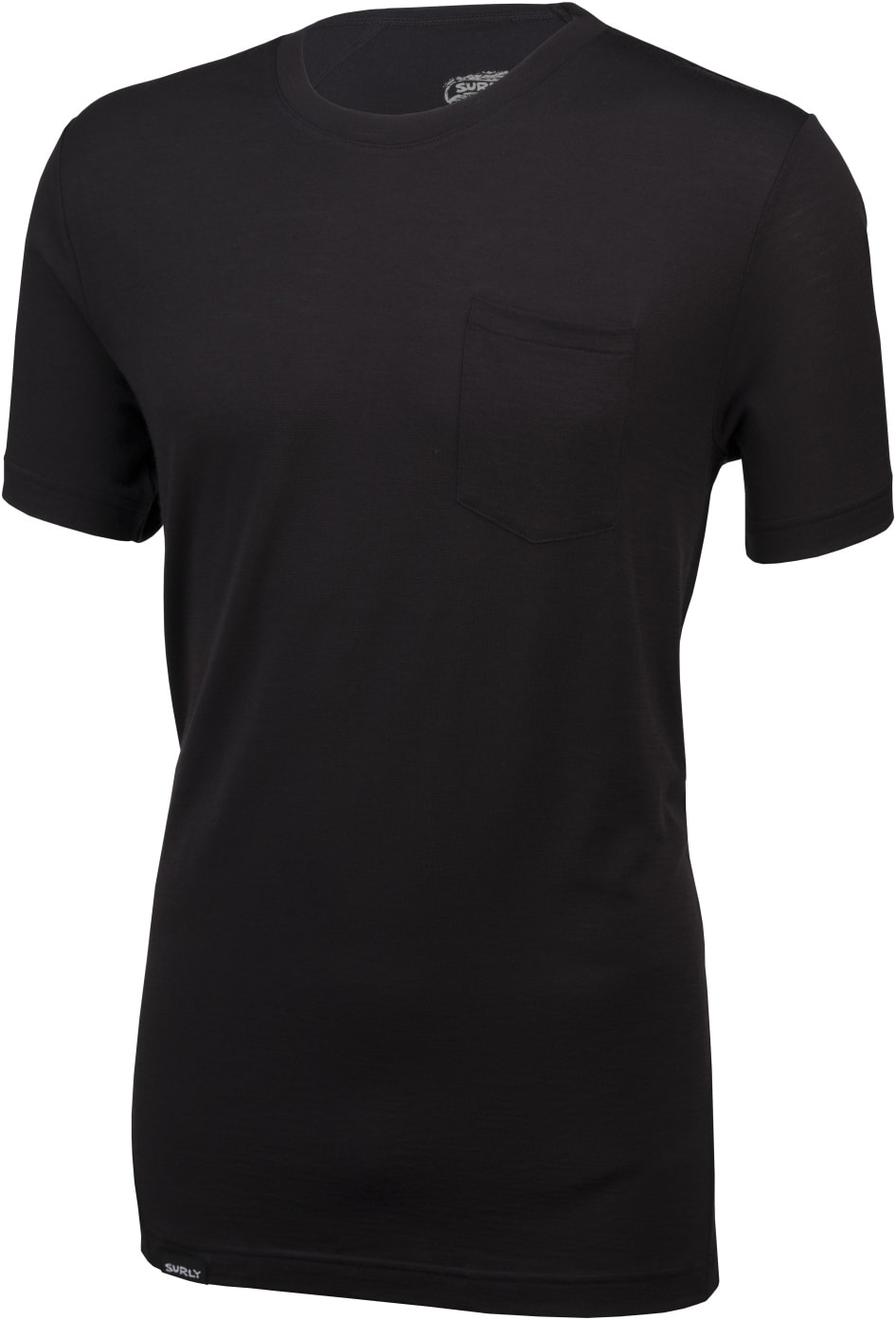 Surly Wool Pocket T - black - front view