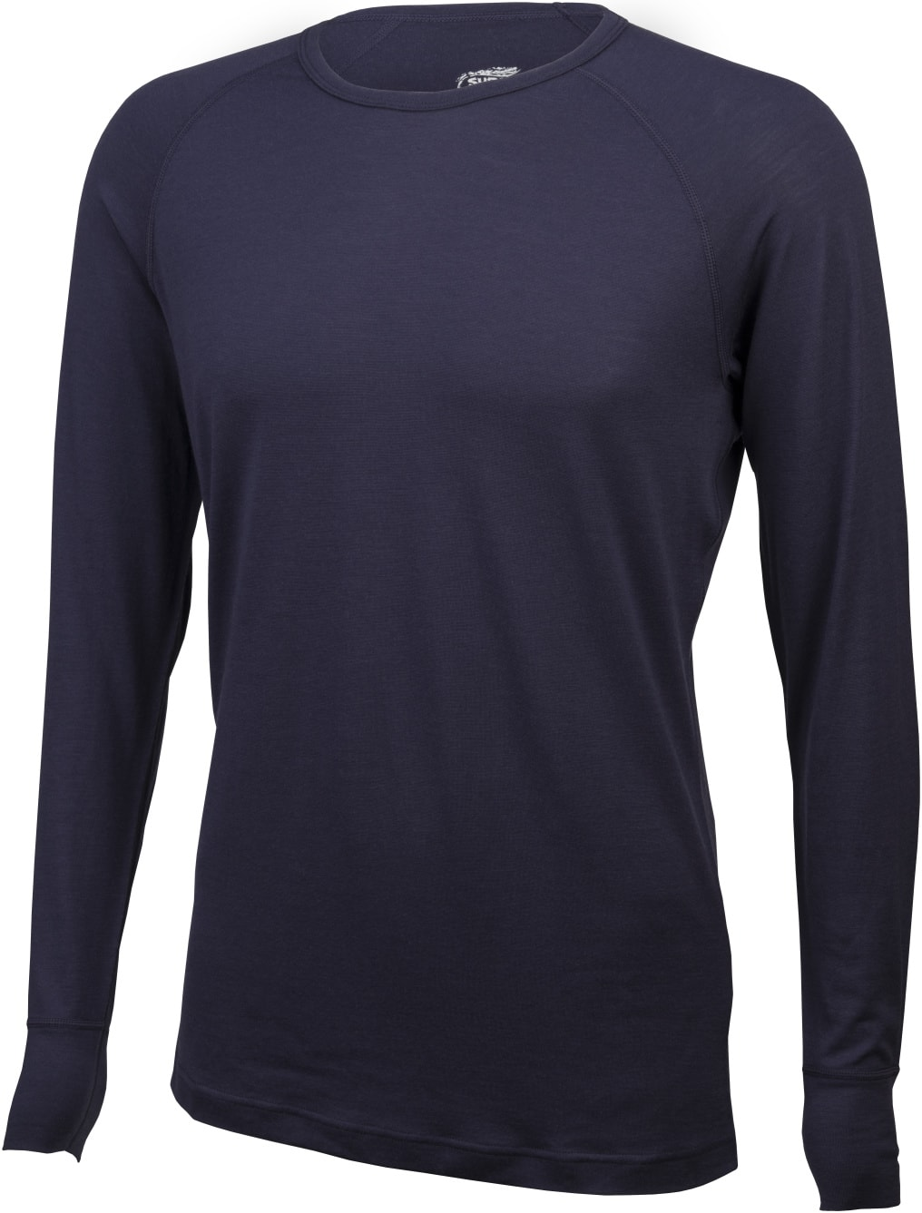 Surly Raglan long sleeve shirt - navy blue - front view
