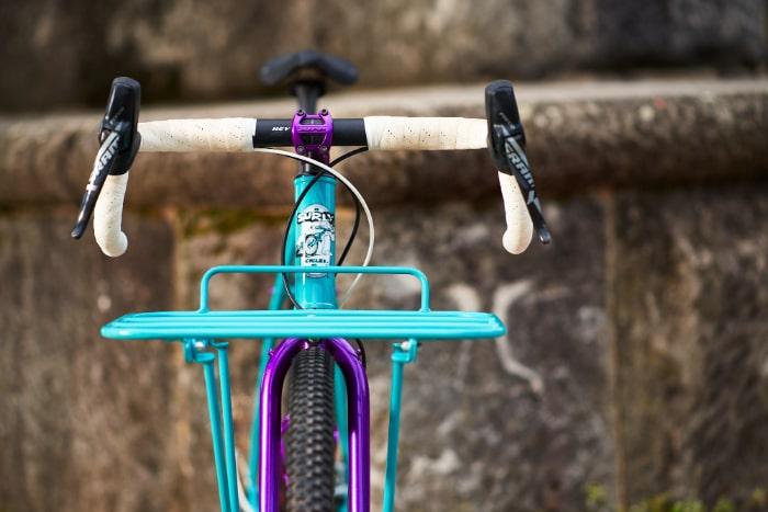 custom color match blue front bike rack