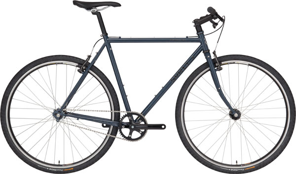 Surly Cross Check bike - dark blue - right side view with white background