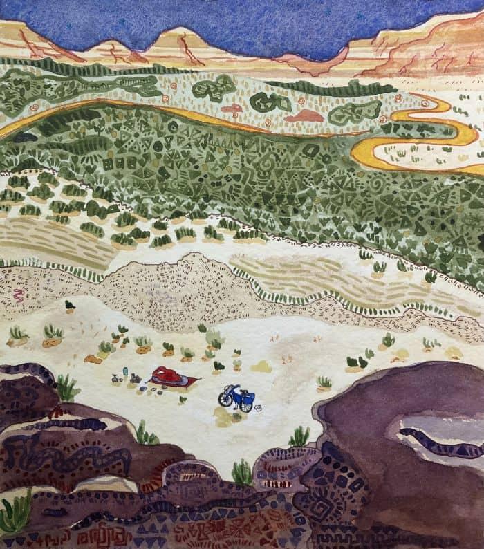 Bivouac en el desertio